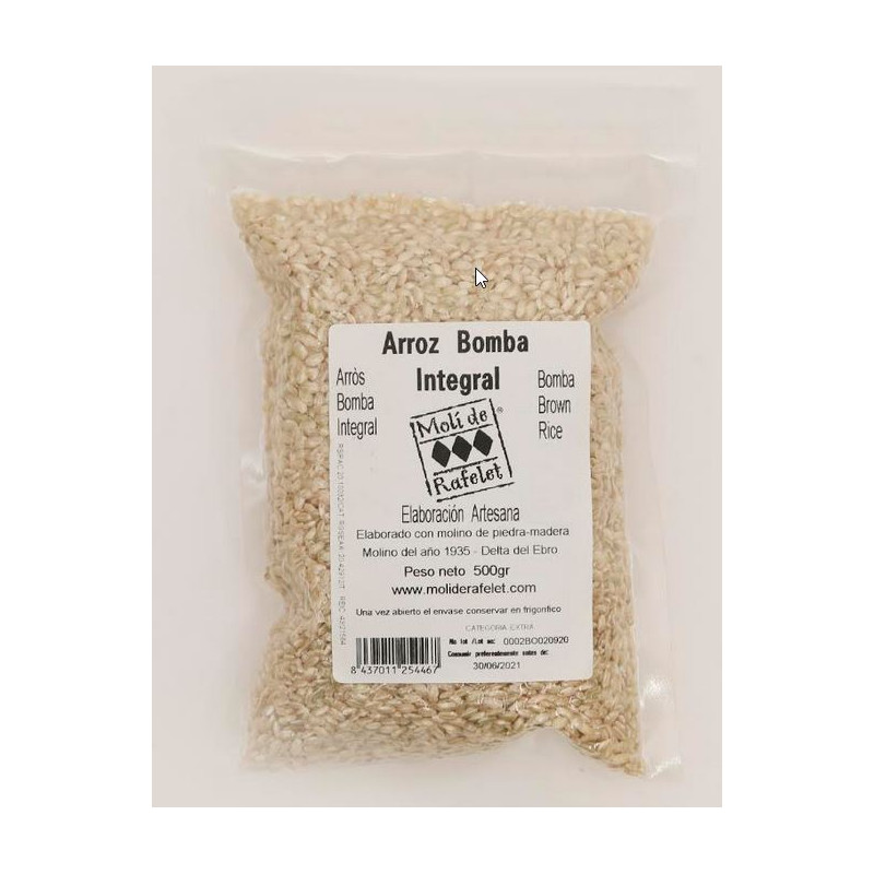 Arroz Bomba Integral 500gr